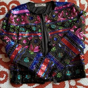 🌺Vintage beaded Scala evening jacket🌺6 approx.